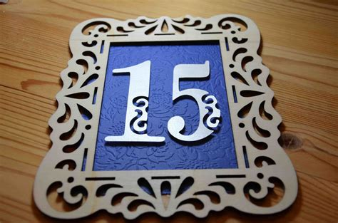 embossed sapphire blue backed table   champagne