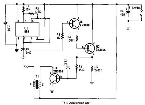 Battery Powered High Voltage Generator Circuit Diagram