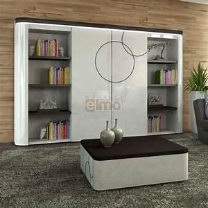 Meuble TV Living Bibliothque Laque Bicolore Portes
