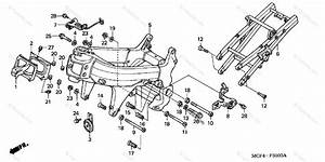 Honda Motorcycle 2001 Oem Parts Diagram For Frame   U0026 39 00