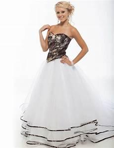 camo dress dressed up girl With white camo wedding dresses