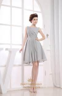gray wedding dresses gray pleated chiffon a line bateau bridesmaid dresses fancy bridesmaid dresses