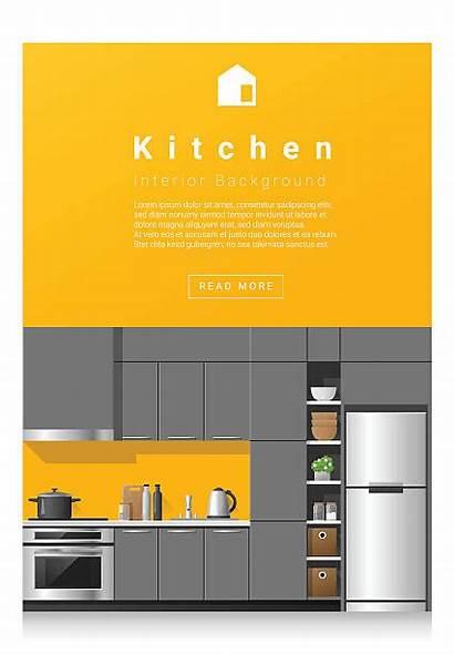 Kitchen Interior Modern Banner Pantry Clip Illustrations