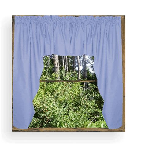 Blue Swag Curtains by Caribbean Blue Swag Window Valance Set