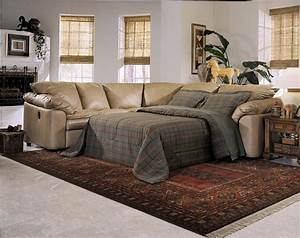 Reclining sectional sofa with sleeper cleanupfloridacom for Reclining sofa with pull out bed