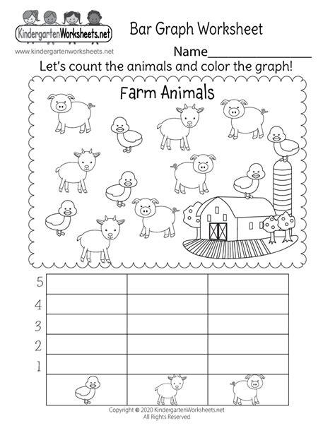 bar graph worksheet  kindergarten math worksheet