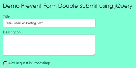 prevent form submit using jquery