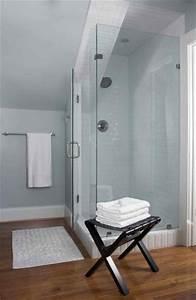 41 best bathroom ideas images on pinterest bathroom for Small attic bathroom sloped ceiling