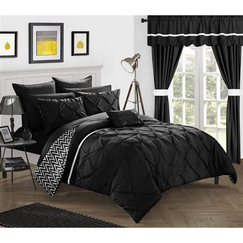 chic home potterville 20 piece bed in a bag black