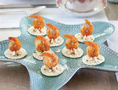 canapes with prawns guava glazed shrimp canapés teatime magazine