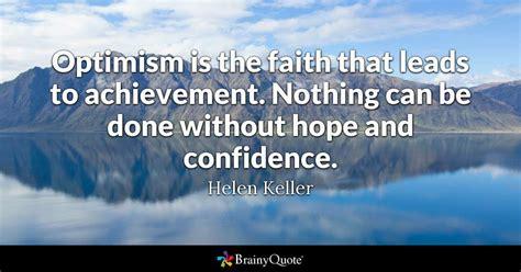 optimism   faith  leads  achievement