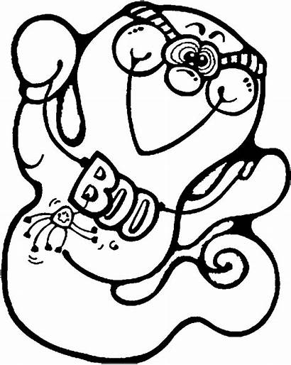 Halloween Coloring Ghost Pages Ghosts Printable Cliparts