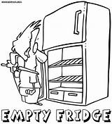 Fridge Refrigerator Open Drawing Coloring Pages Getdrawings Stuff sketch template