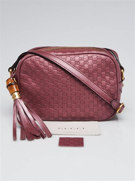 gucci pink micro guccissima leather disco bag yoogis closet