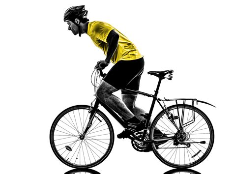 person riding a bike silhouette   Riding Bike