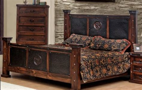 find discount king size copper creek bed dark stain