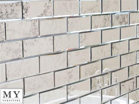 Spiegel Fliesen Bad by Details About Silver Antiqued Mirrored Mirror Wall Tiles