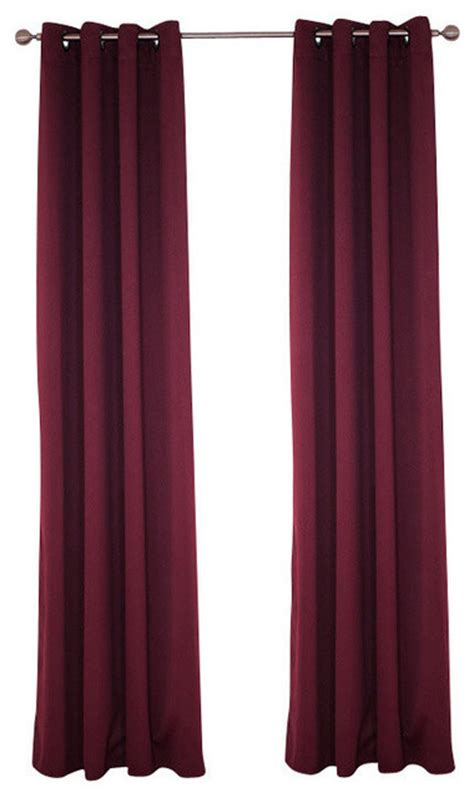 Burgundy Blackout Curtains Uk by Lavish Home Blackout Grommet Curtain Panel 84 Quot Length