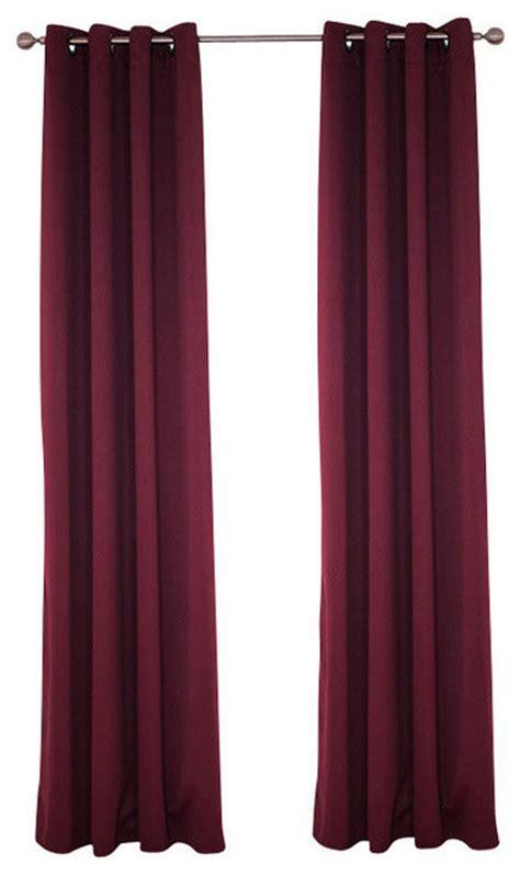 burgundy grommet blackout curtains lavish home blackout grommet curtain panel 84 quot length