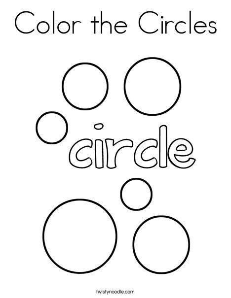 color  circles coloring page twisty noodle shape