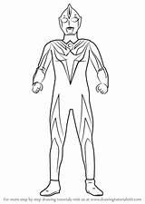 Ultraman Cosmos Draw Drawing Coloring Pages Step Colouring Cartoon Tutorials Gambar Learn Drawingtutorials101 Printable Characters Fantastic sketch template