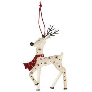 white reindeer christmas decoration dotcomgiftshop