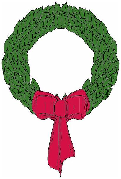 Wreath Clip Christmas Clipart Svg
