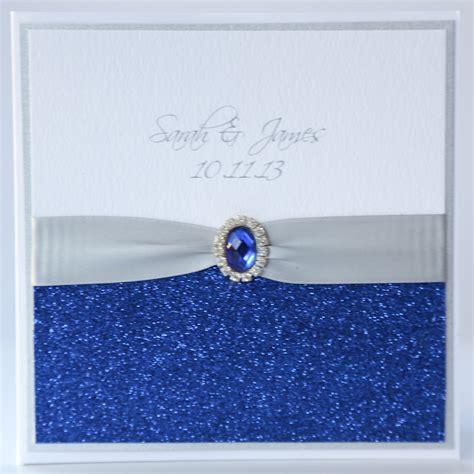 royal blue wedding invitations silver royal blue glitter pocket wedding invitation boxed vintage wedding stationery