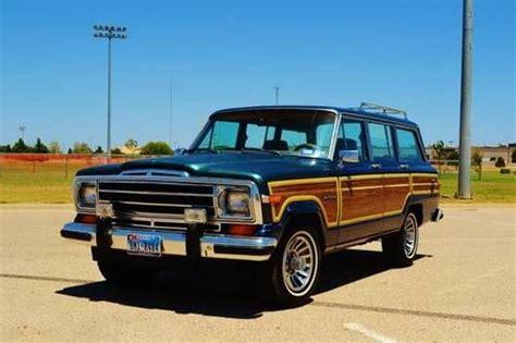 jeep wagoneer blue purchase used 1988 jeep grand wagoneer original 4x4 suv