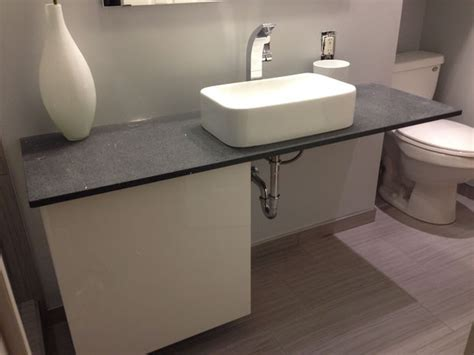 Installing Floating Vanity by How To Make A Floating Vanity Countertop