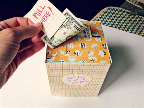 diy creative   give  cash gift   kleenex box