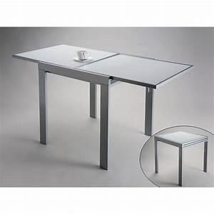 Table Verre Extensible : table design extensible versa en verre blanc achat vente table a manger seule table design ~ Teatrodelosmanantiales.com Idées de Décoration