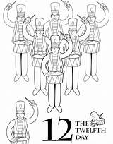 Days Coloring Printable Scholastic Twelve Parents Books Malbuch Weihnachten Tage Drummers Drumming Colors Printables Gift Template Credit Larger Svg Getcolorings sketch template