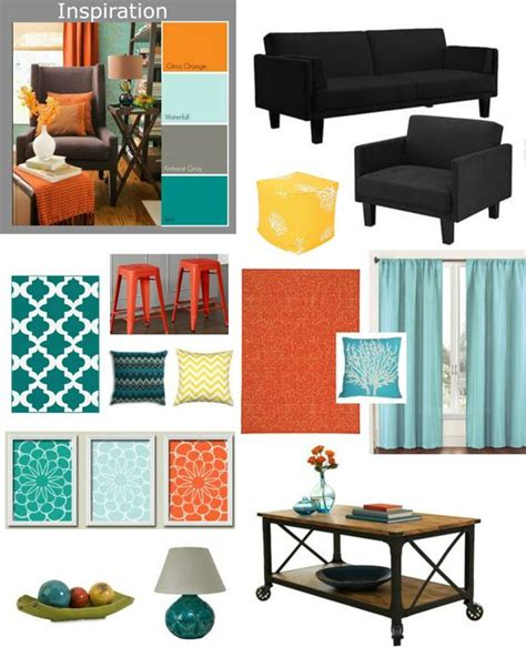 yellow ottoman teal rug and orange rugs on pinterest