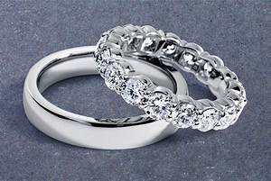 his and hers platinum wedding bands onewedcom With his and hers wedding rings platinum