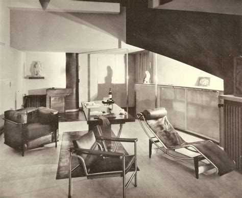 Chaise Interiors by Interior From 1920s Featuring Furniture From Le