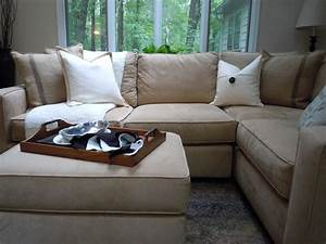 Pb square sectional in home for Small sectional sofa pottery barn