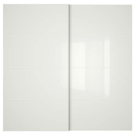 white glass f 196 rvik pair of sliding doors white glass 200x201 cm ikea