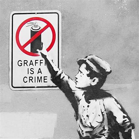 Banksy Graffiti Is A Crime Canvas Pop Culture Wall Art