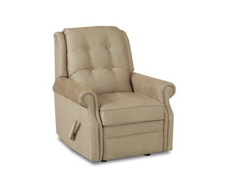 Transitional Manual Swivel Rocking Reclining Chair With Button Tufting By Klaussner Value City Chairs Plus Size Beach Tufted Back Dining Chair Art Nouveau Country Kitchen Cushions Realspace Mat Adjustable Height Camp With Footrest