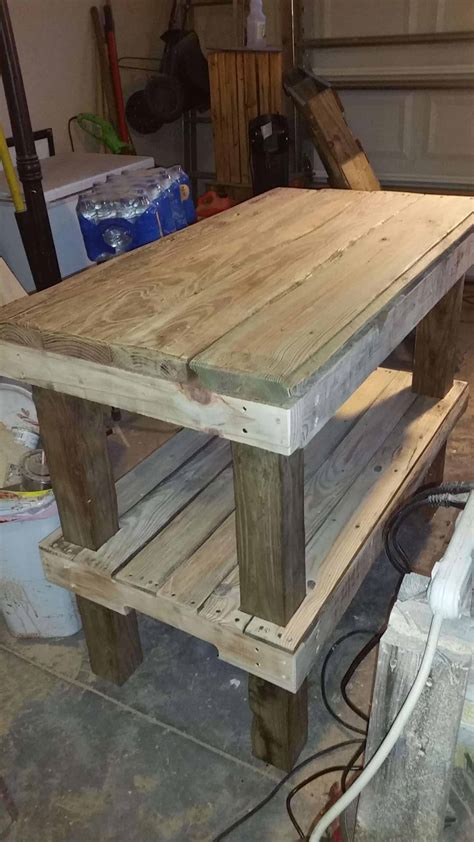 kitchen island made out of pallets kitchen island out of driftwood pallet planks 1001 pallets 9414