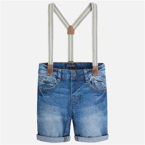 boy denim shorts with suspenders yogaso boutique