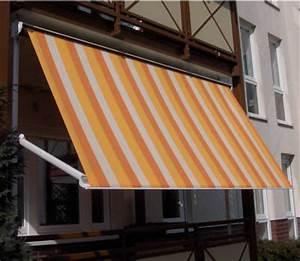 balkonmarkise fallarmmarkise und balkonmarkisen gunstig With markise balkon mit tapete metallic silber