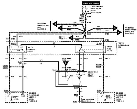 Ford F 150 Wiper Motor Wiring by Where Is The Turn Signal Flasher Relay Located On A 2001