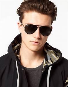 ban aviator sunglasses in black for lyst