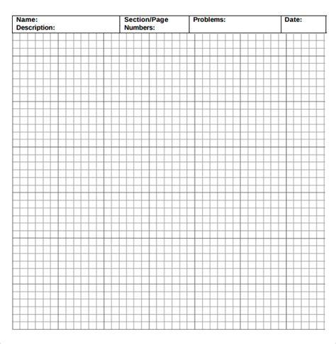 sample incompetech graph paper templates   ms word