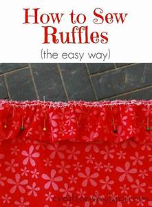 How To Sew Ruffles The Easy Way