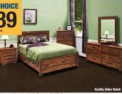 dakota knotty alder finish bedroom furniture from menards