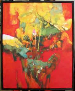 Abstract Oil Painting Flowers