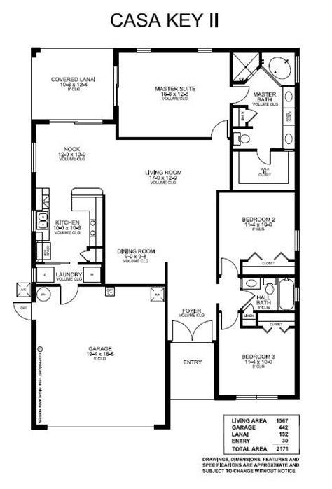 Highland Homes Casa Key II. 3 Bedrooms, 2 Baths, 2-Car